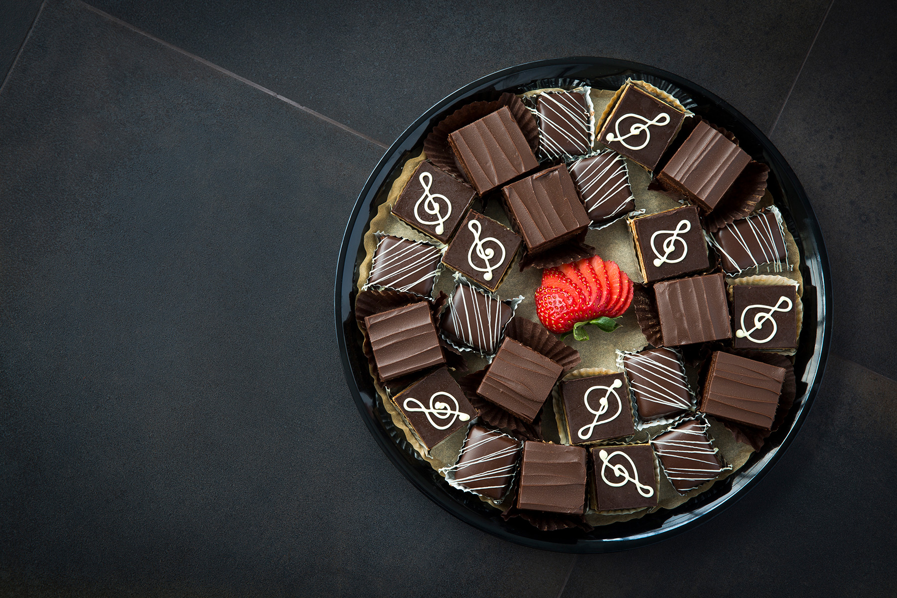 Chocolate Cake Trio Platter