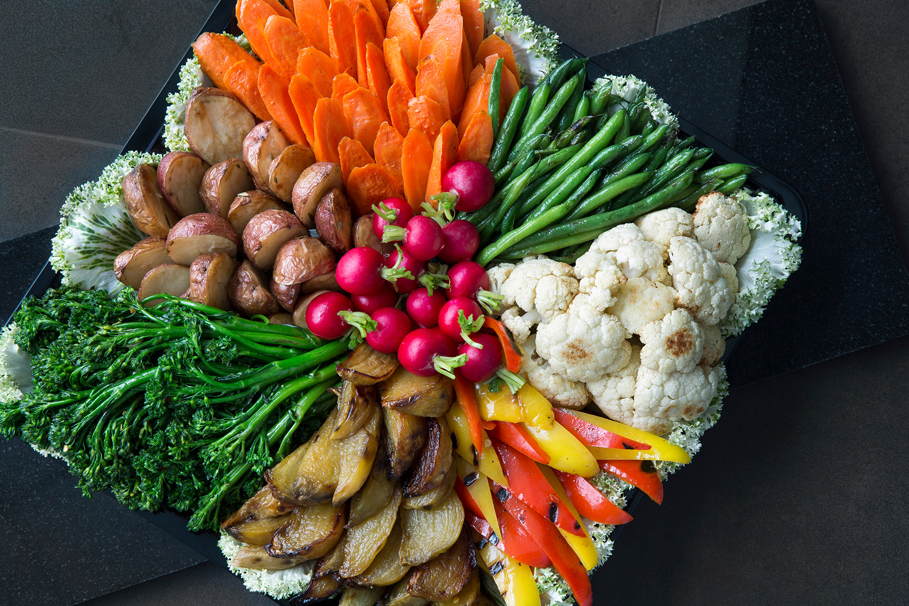 Roasted Seasonal Vegetables Platter