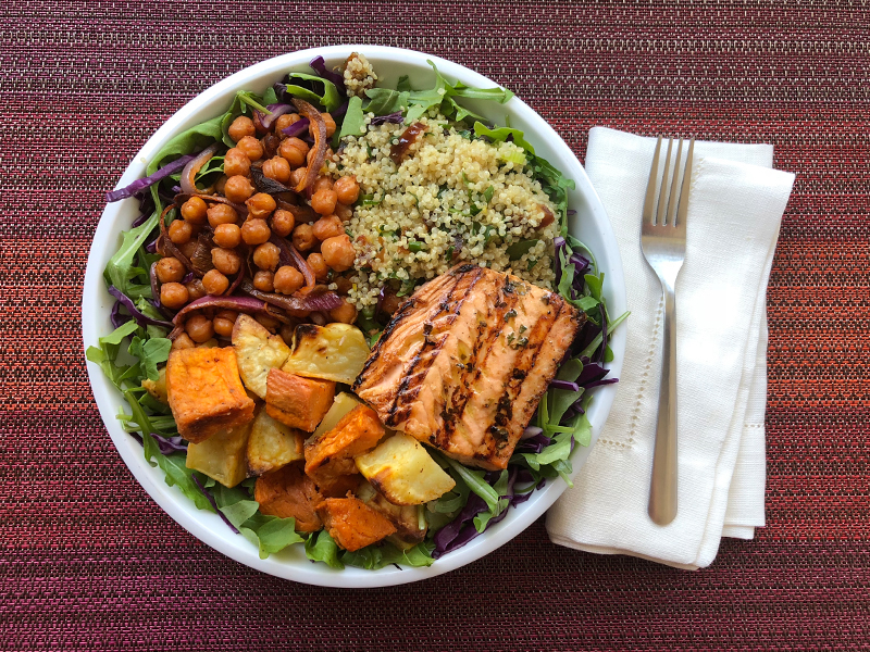 Autumn Salmon & Sweet Potato Bowl